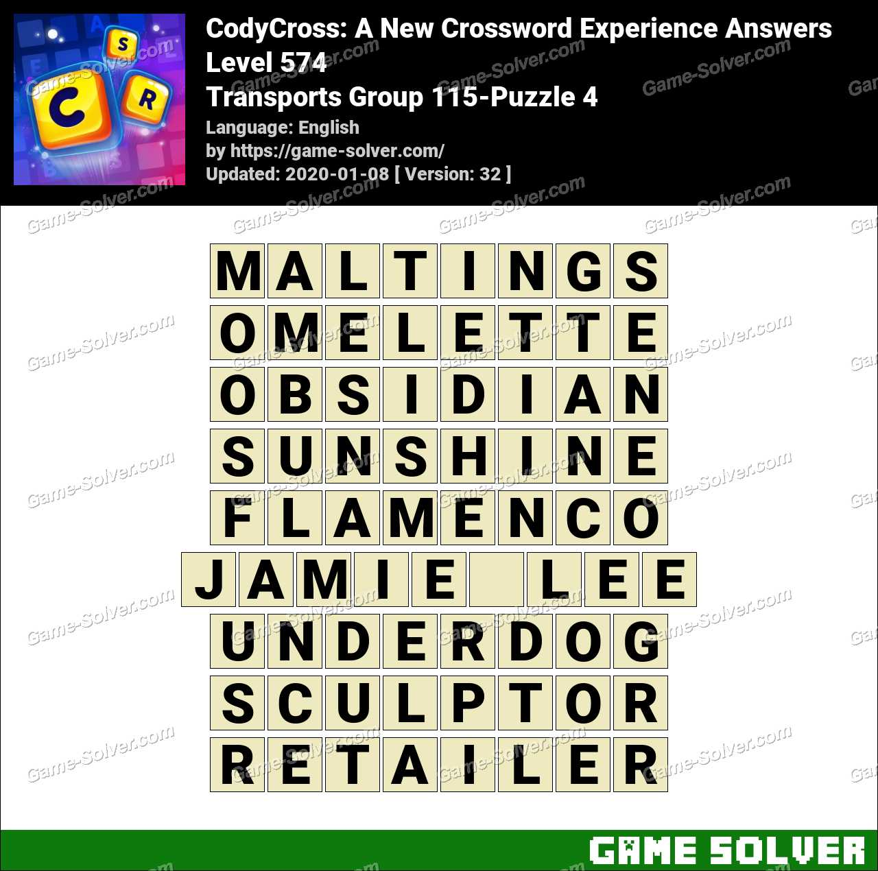 CodyCross Transports Group 115-Puzzle 4 Answers