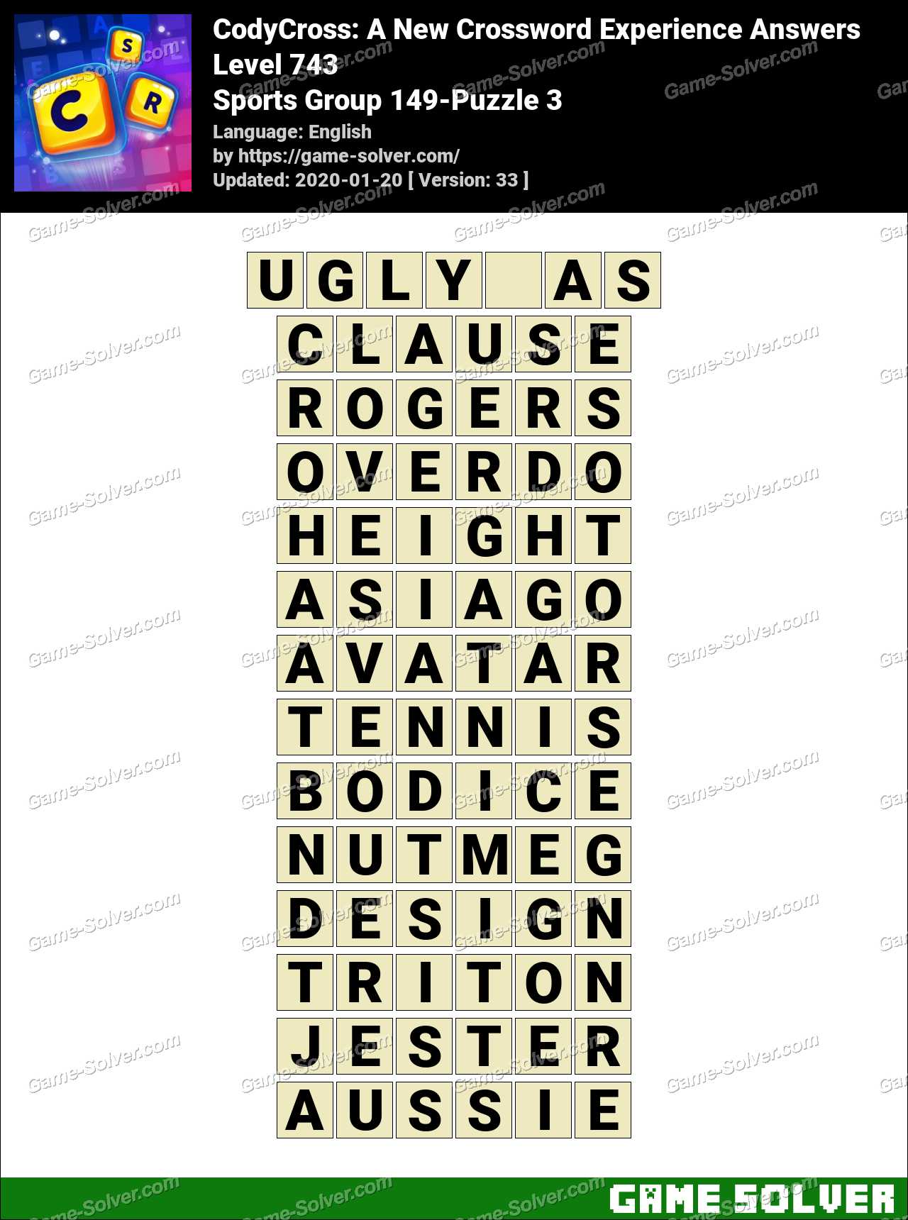 CodyCross Sports Group 149-Puzzle 3 Answers