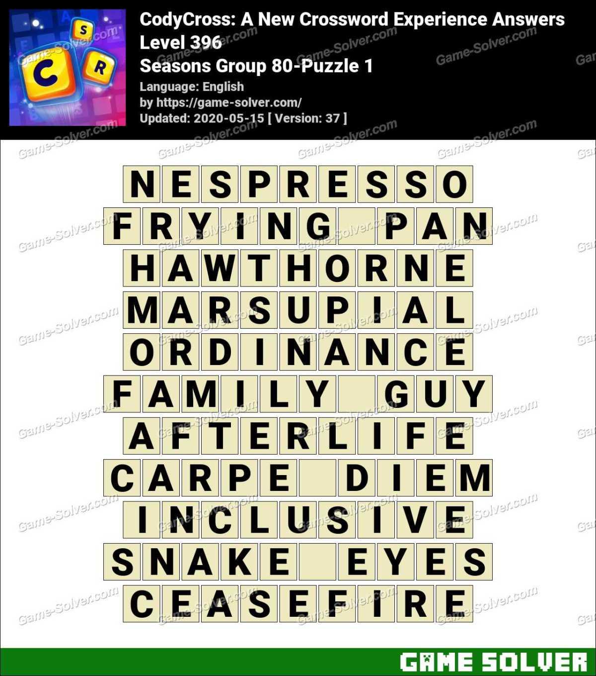 CodyCross Seasons Group 80-Puzzle 1 Answers