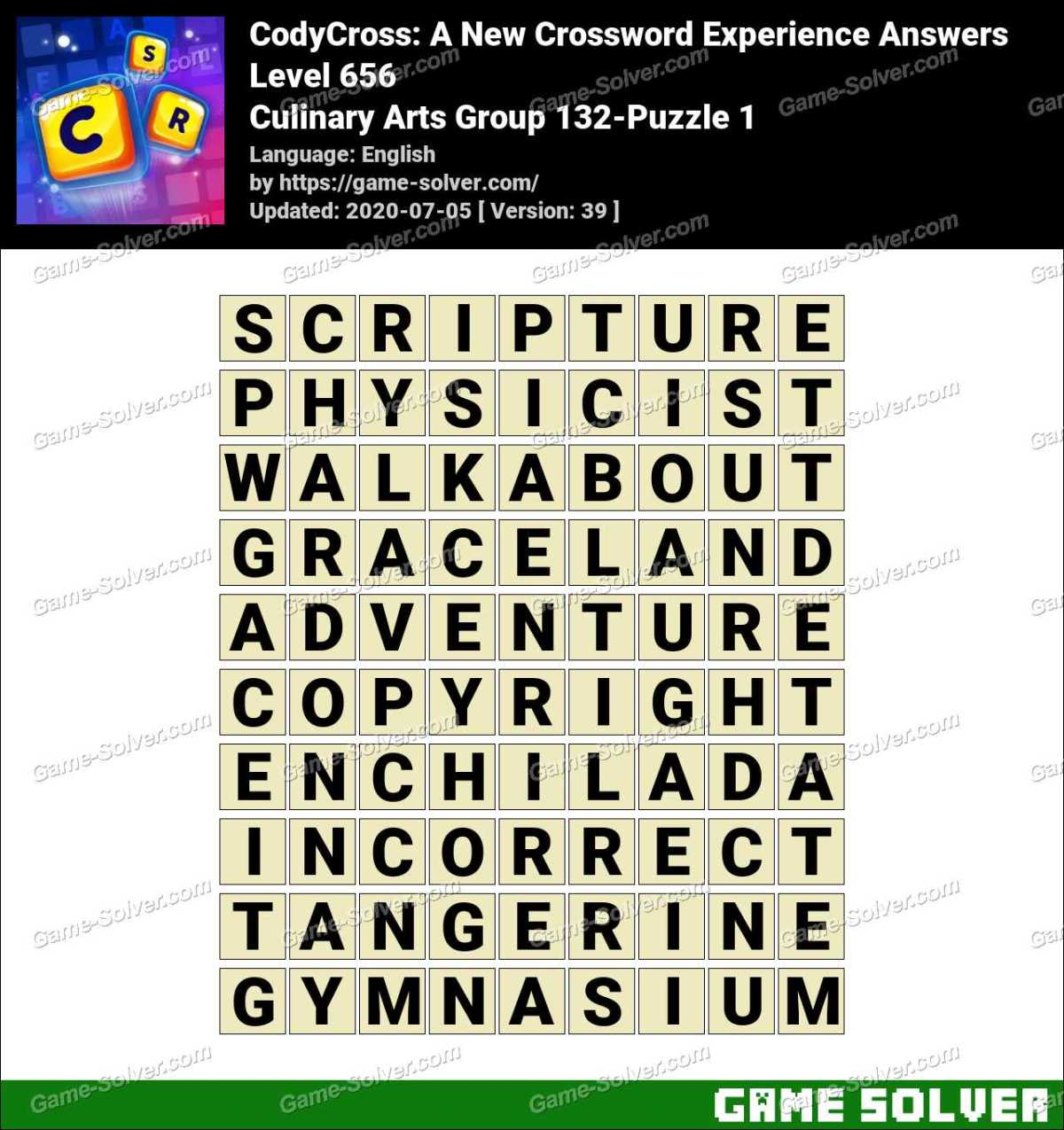 CodyCross Culinary Arts Group 132-Puzzle 1 Answers