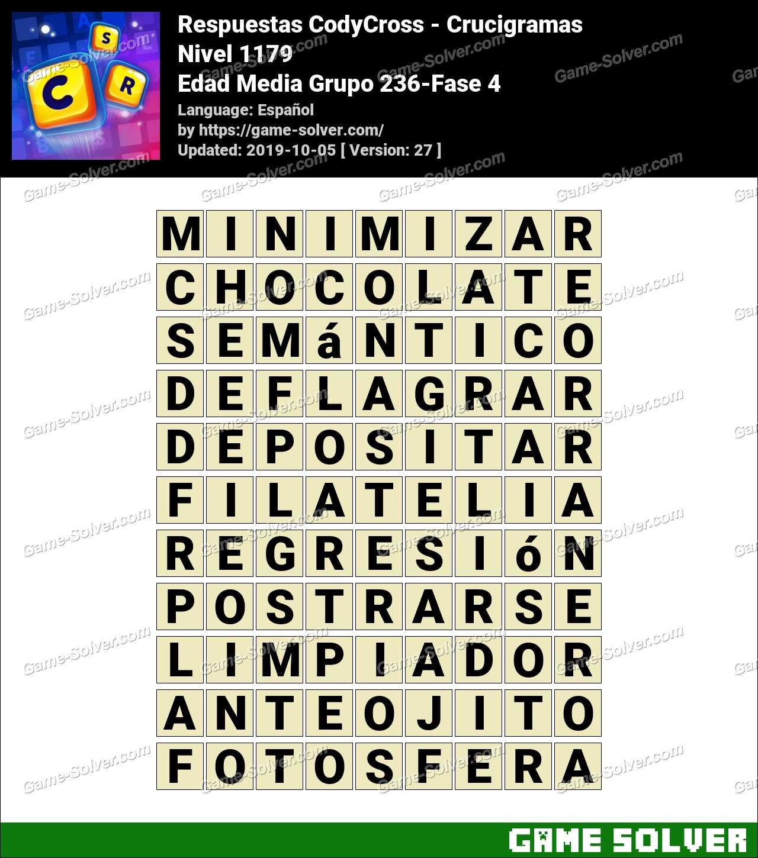 Respuestas CodyCross Edad Media Grupo 236-Fase 4