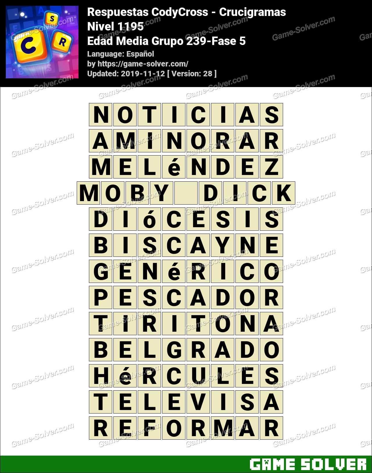 Respuestas CodyCross Edad Media Grupo 239-Fase 5