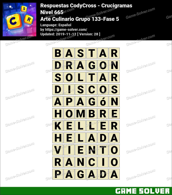 Respuestas CodyCross Arte Culinario Grupo 133-Fase 5
