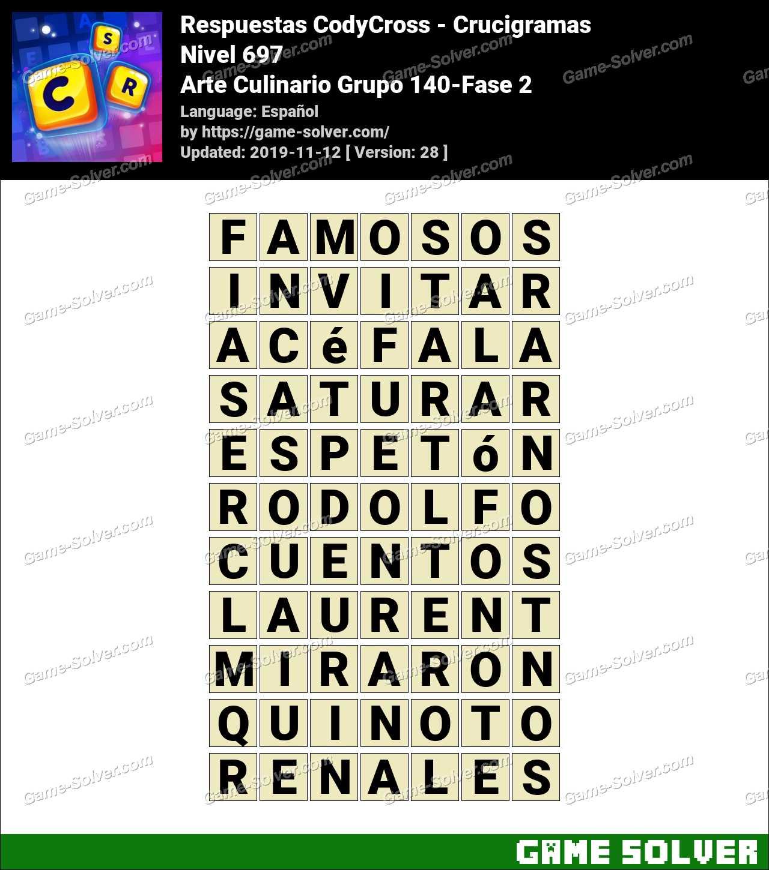 Respuestas CodyCross Arte Culinario Grupo 140-Fase 2