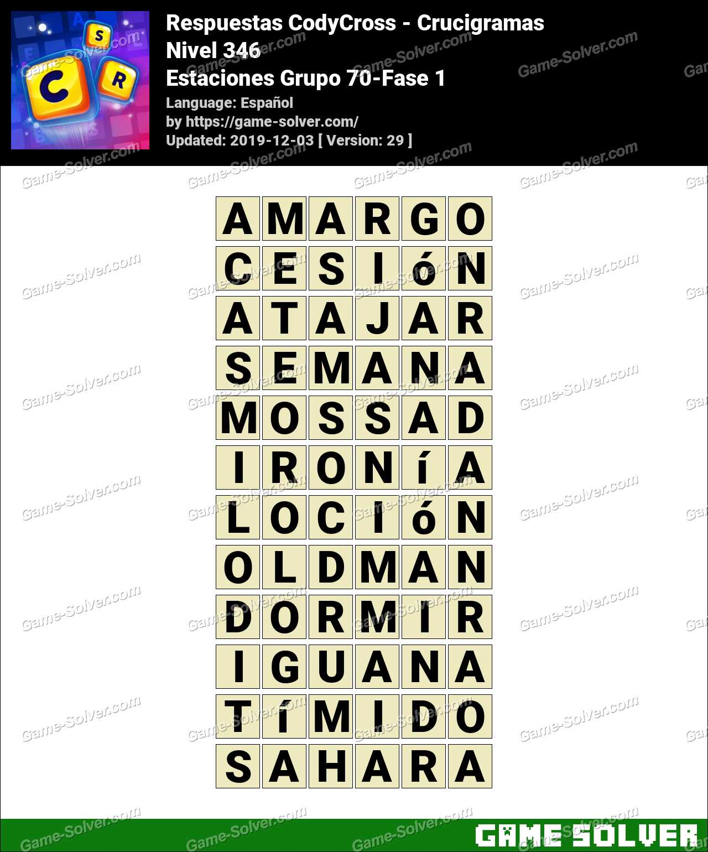 Respuestas CodyCross Estaciones Grupo 70-Fase 1