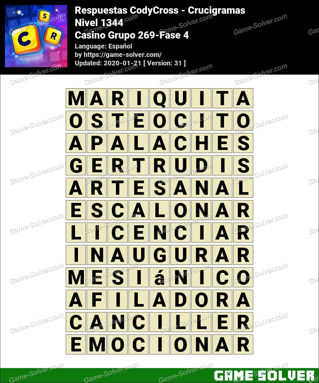 Respuestas CodyCross Casino Grupo 269-Fase 4