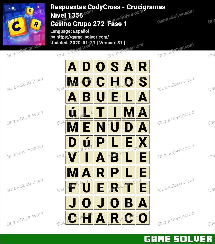 Respuestas CodyCross Casino Grupo 272-Fase 1