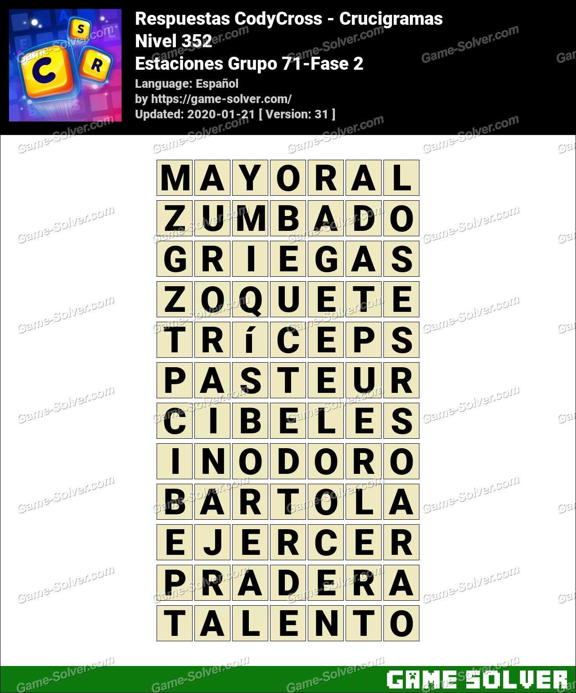 Respuestas CodyCross Estaciones Grupo 71-Fase 2
