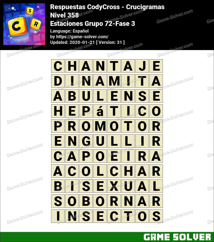 Respuestas CodyCross Estaciones Grupo 72-Fase 3