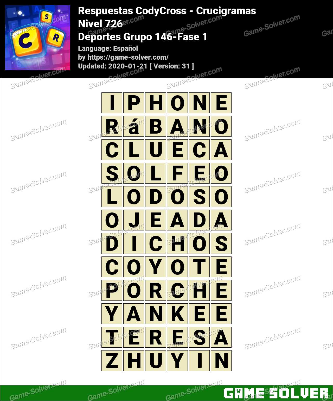 Respuestas CodyCross Deportes Grupo 146-Fase 1