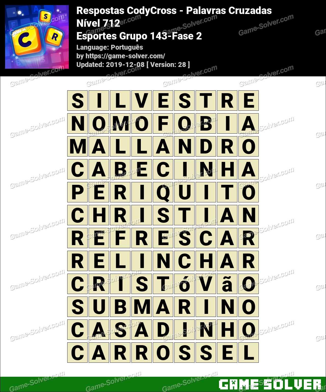 Respostas CodyCross Esportes Grupo 143-Fase 2