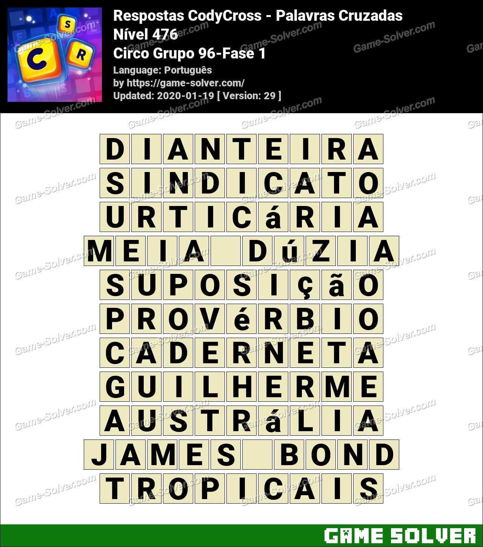 Respostas CodyCross Circo Grupo 96-Fase 1