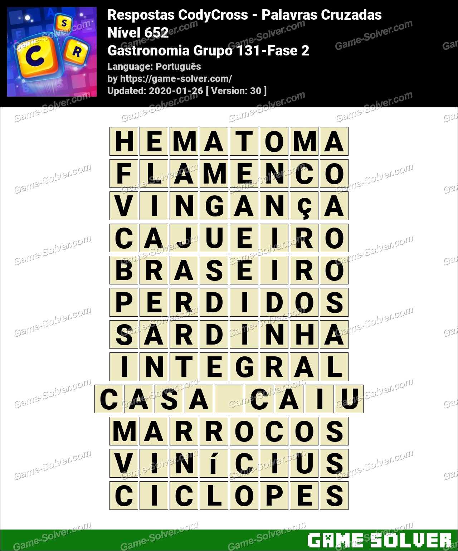Respostas CodyCross Gastronomia Grupo 131-Fase 2