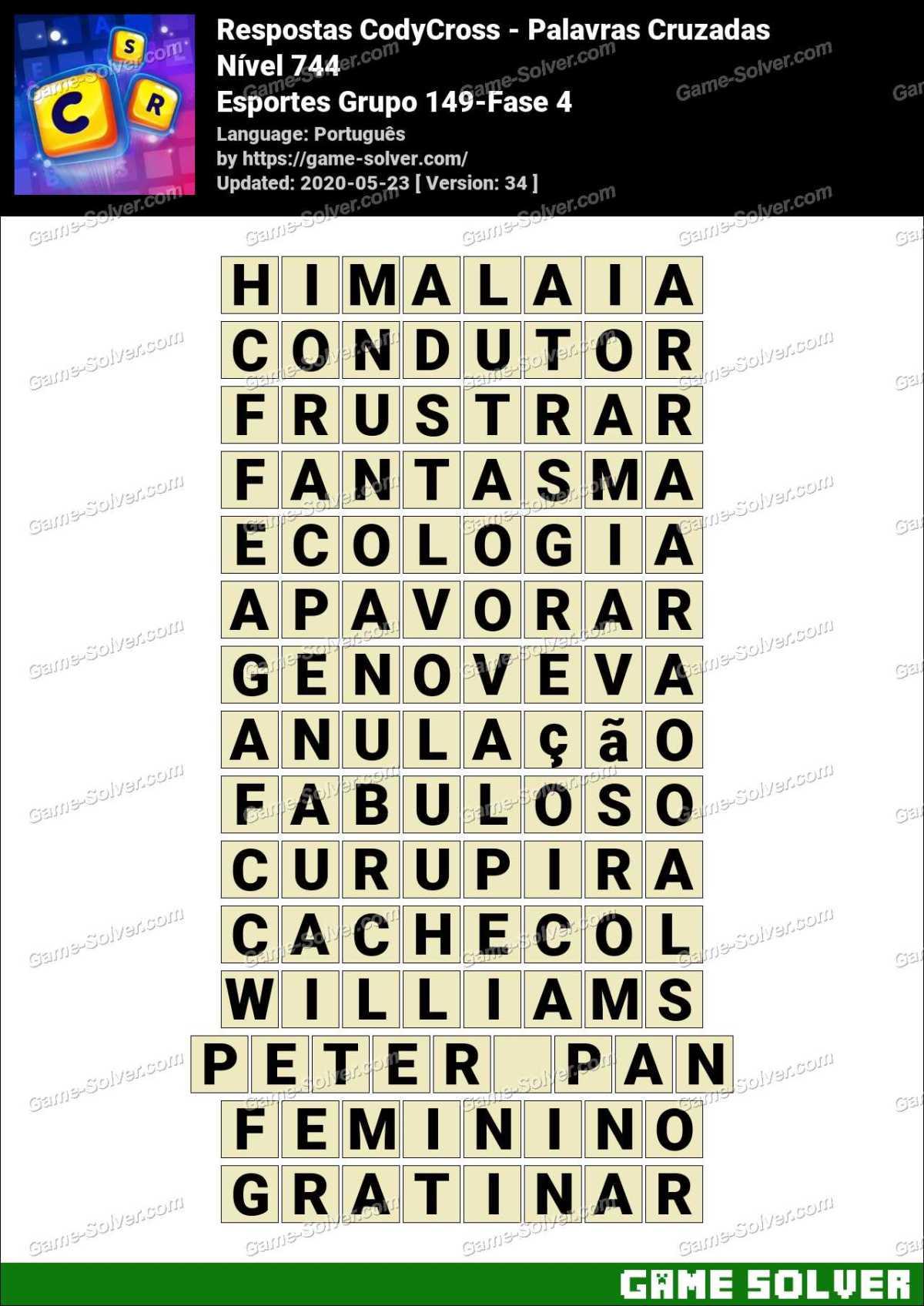 Respostas CodyCross Esportes Grupo 149-Fase 4