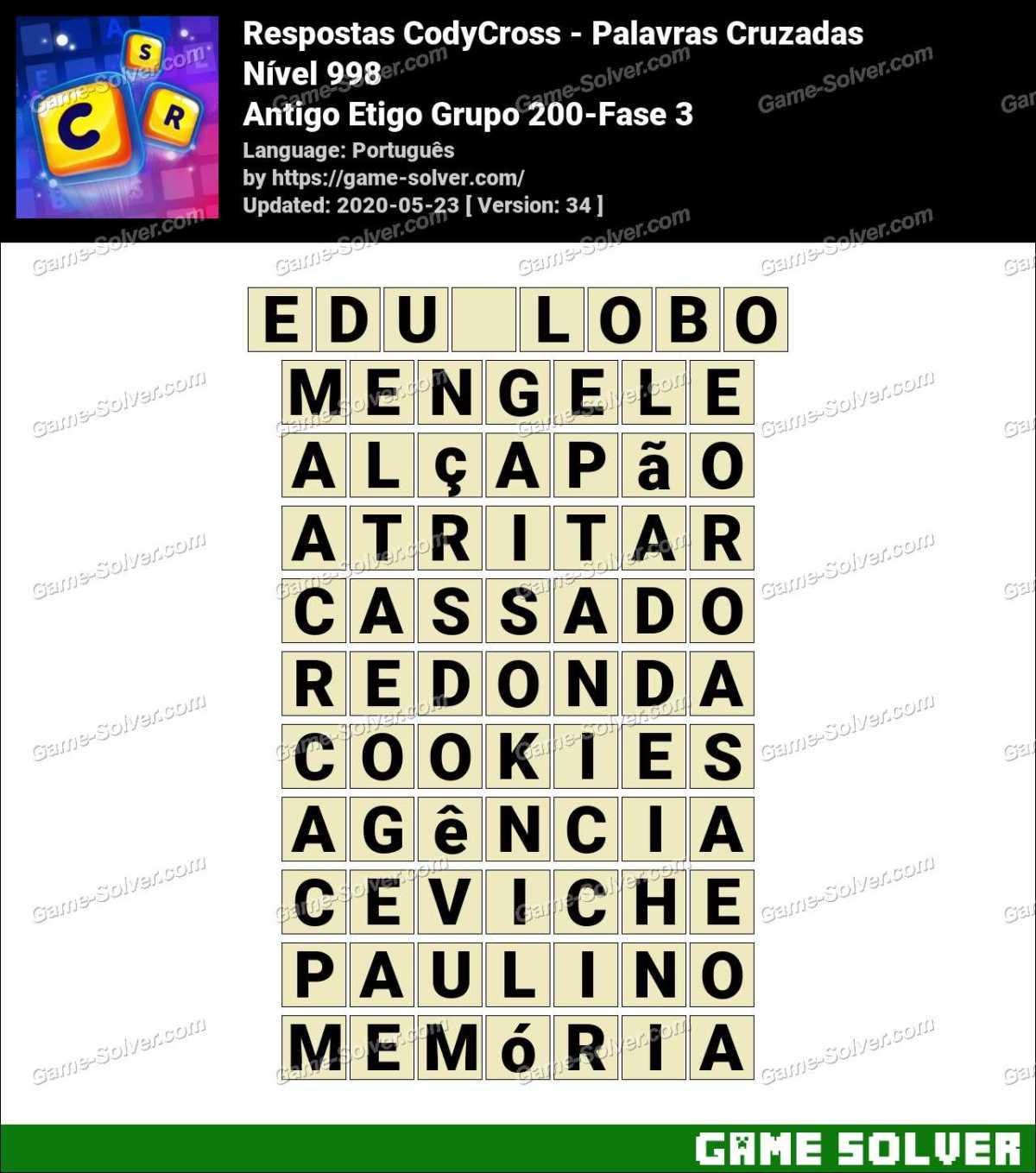 Respostas CodyCross Antigo Etigo Grupo 200-Fase 3