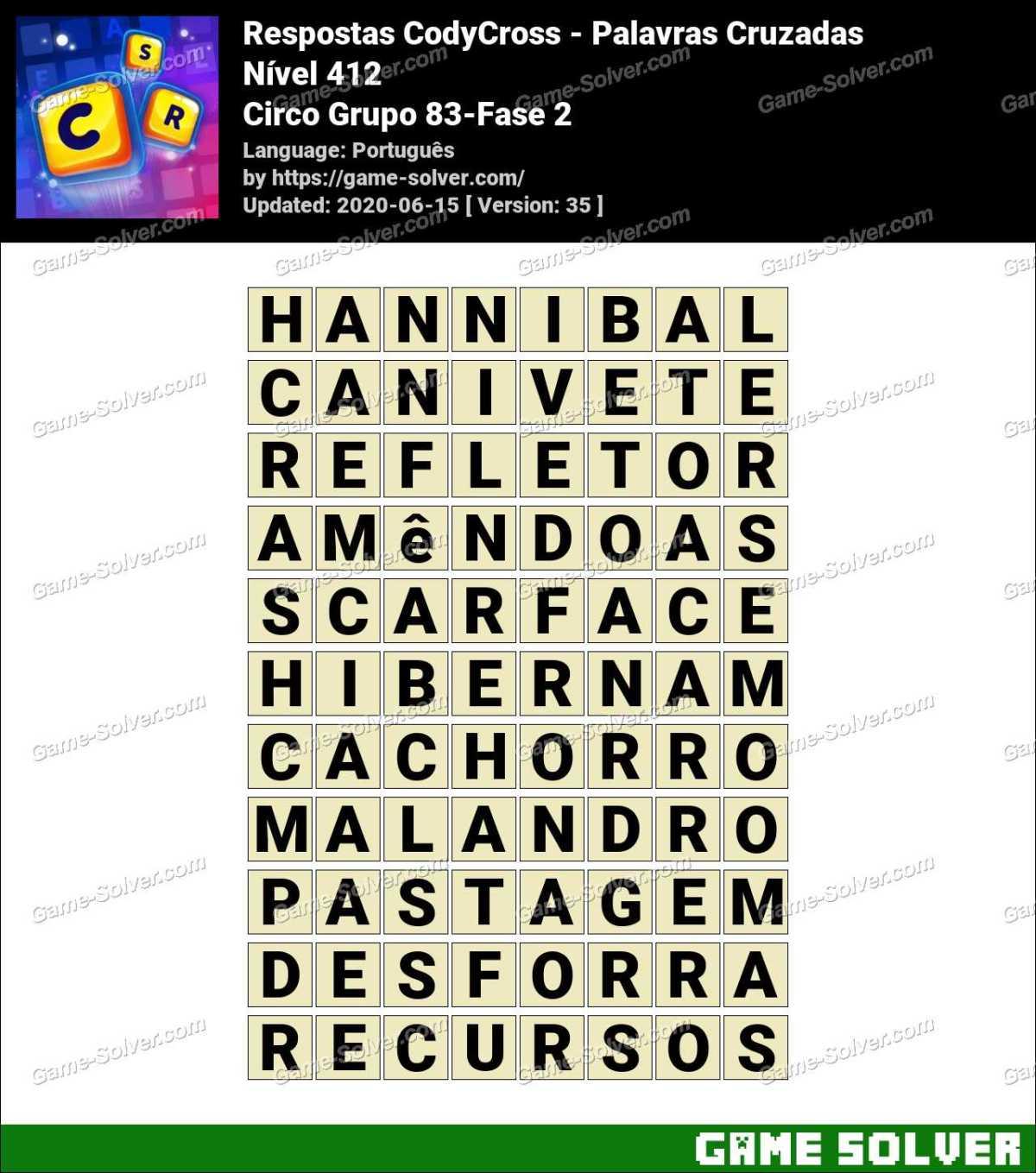 Respostas CodyCross Circo Grupo 83-Fase 2