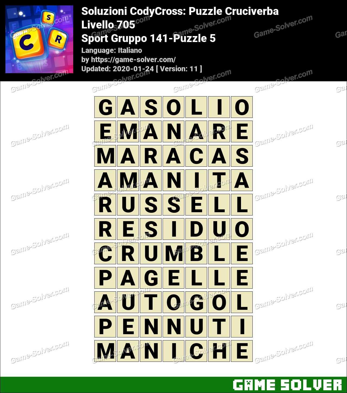 Soluzioni CodyCross Sport Gruppo 141-Puzzle 5
