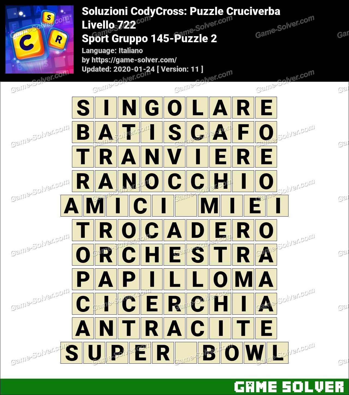 Soluzioni CodyCross Sport Gruppo 145-Puzzle 2
