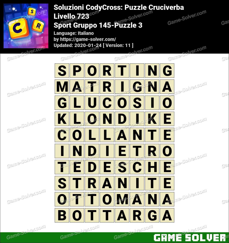 Soluzioni CodyCross Sport Gruppo 145-Puzzle 3