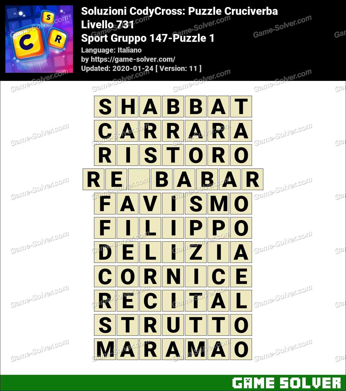 Soluzioni CodyCross Sport Gruppo 147-Puzzle 1
