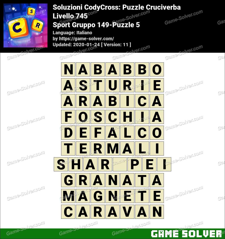 Soluzioni CodyCross Sport Gruppo 149-Puzzle 5