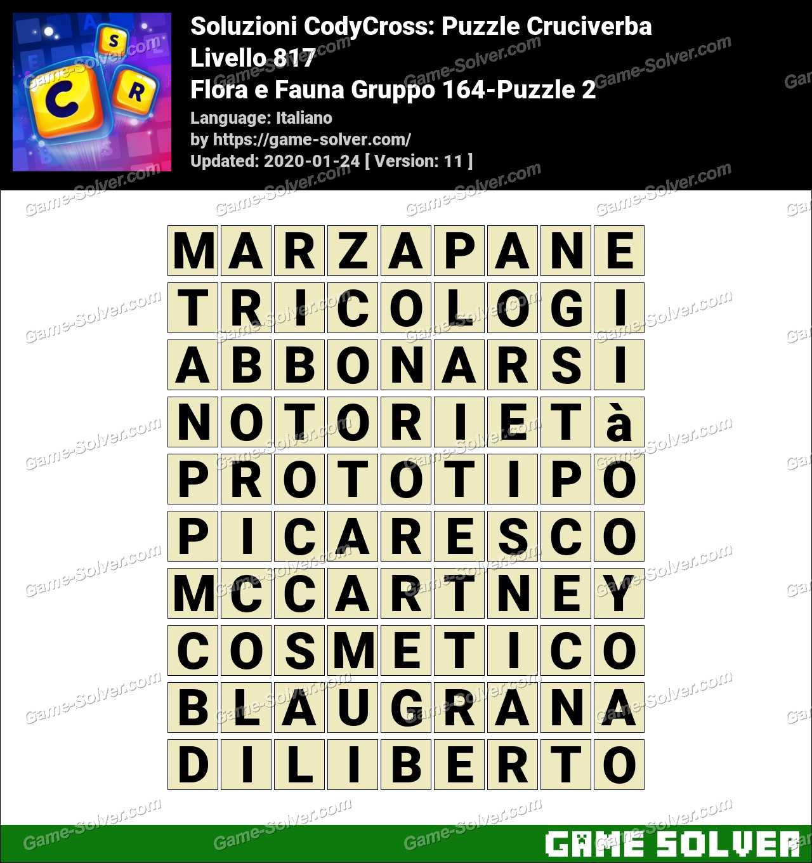 Soluzioni CodyCross Flora e Fauna Gruppo 164-Puzzle 2