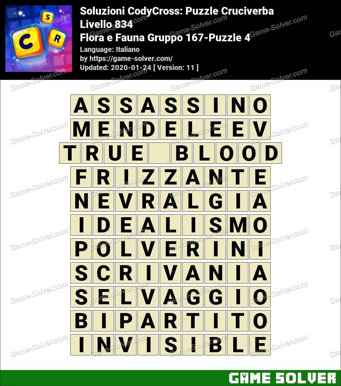 Soluzioni CodyCross Flora e Fauna Gruppo 167-Puzzle 4