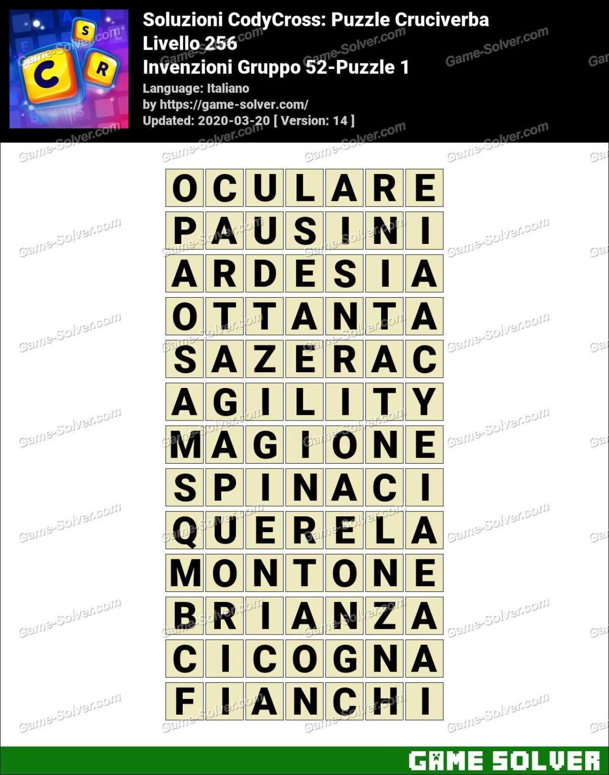 Soluzioni CodyCross Invenzioni Gruppo 52-Puzzle 1