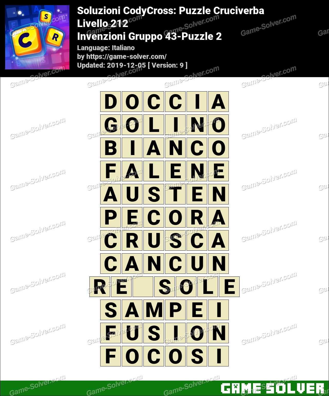 Soluzioni CodyCross Invenzioni Gruppo 43-Puzzle 2