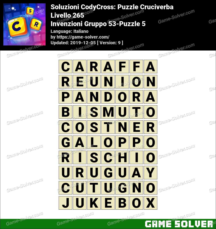 Soluzioni CodyCross Invenzioni Gruppo 53-Puzzle 5