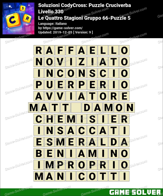 Soluzioni CodyCross Le Quattro Stagioni Gruppo 66-Puzzle 5