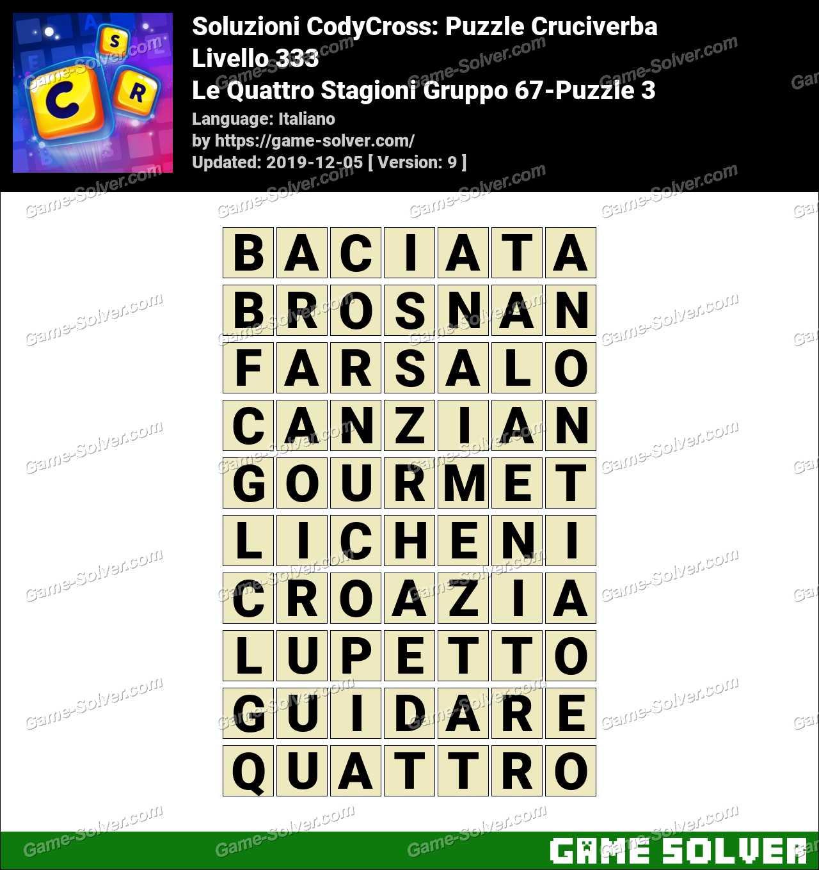 Soluzioni CodyCross Le Quattro Stagioni Gruppo 67-Puzzle 3