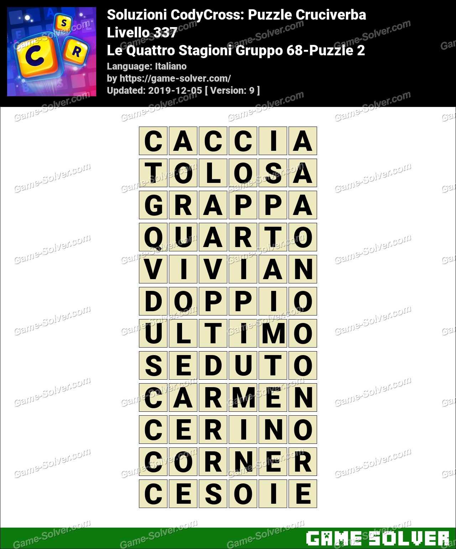 Soluzioni CodyCross Le Quattro Stagioni Gruppo 68-Puzzle 2