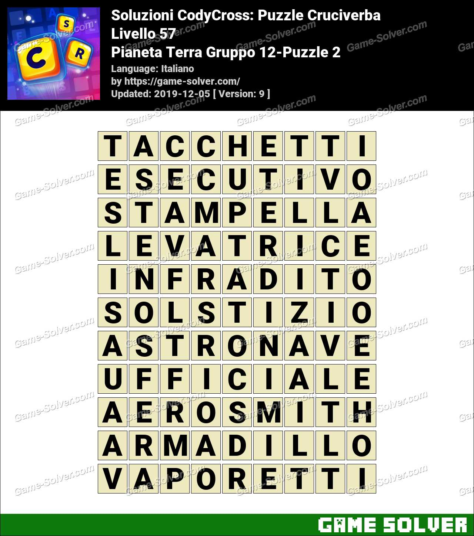 Soluzioni CodyCross Pianeta Terra Gruppo 12-Puzzle 2