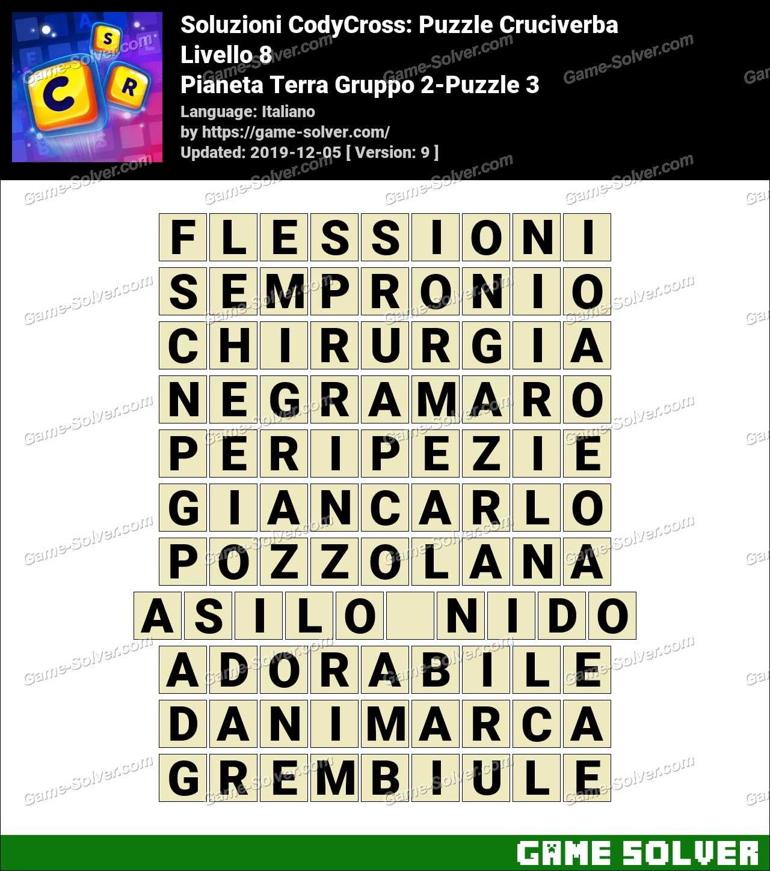 Soluzioni CodyCross Pianeta Terra Gruppo 2-Puzzle 3