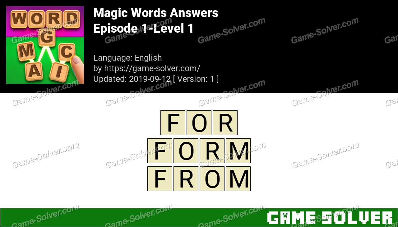 Magic Words Episode 1-Level 1