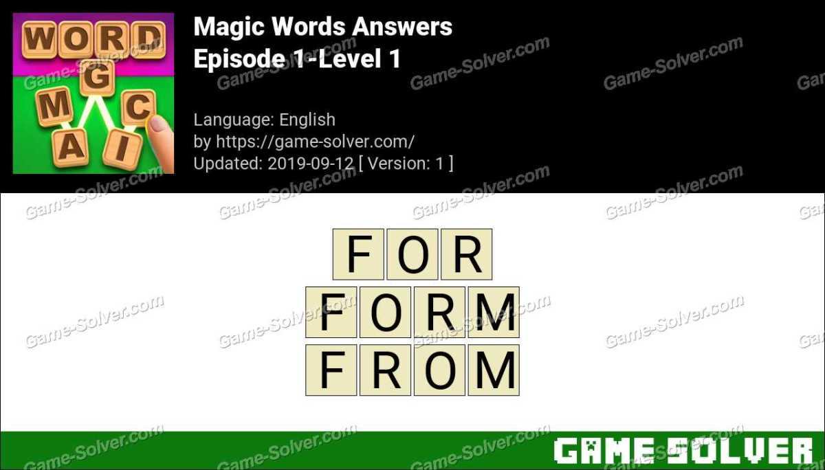 Magic Words Episode 1-Level 1