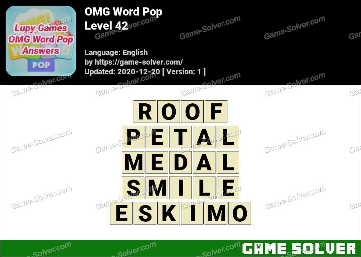 OMG Word Pop Level 42 Answers