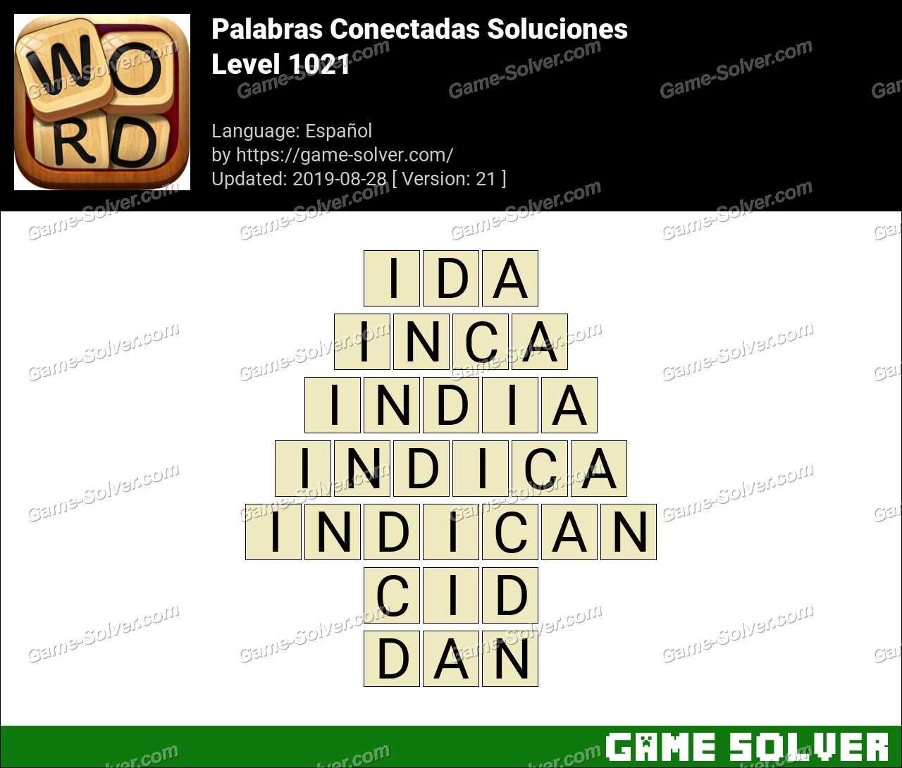 Palabras Conectadas Nivel 1021 Soluciones