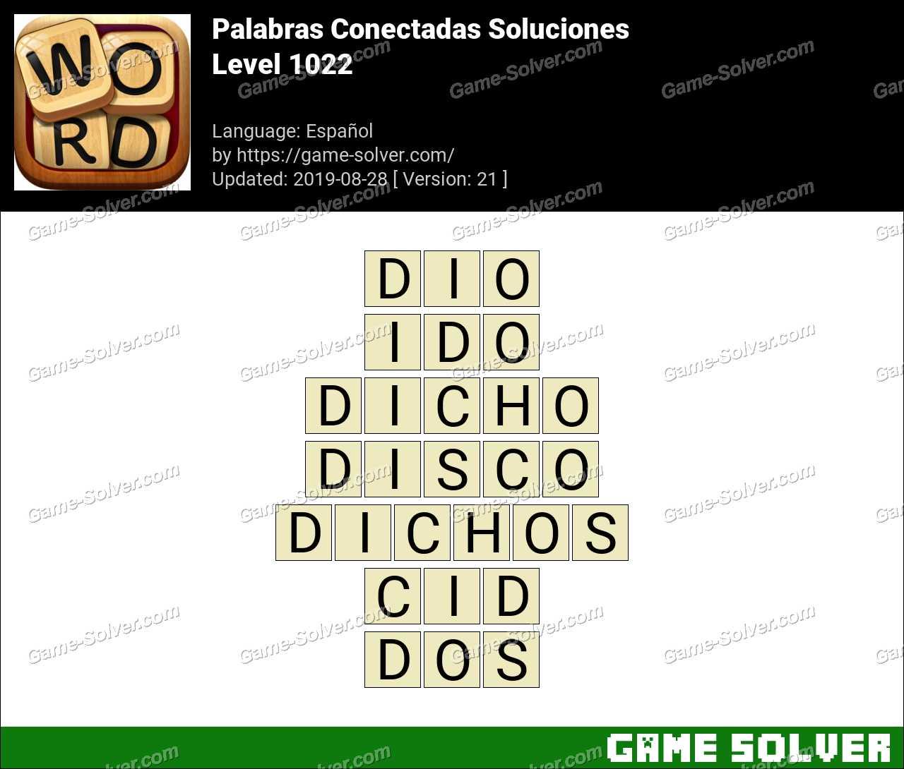 Palabras Conectadas Nivel 1022 Soluciones