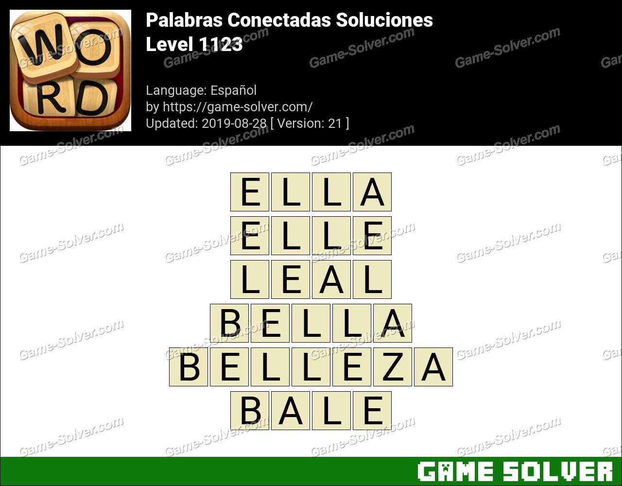 Palabras Conectadas Nivel 1123 Soluciones