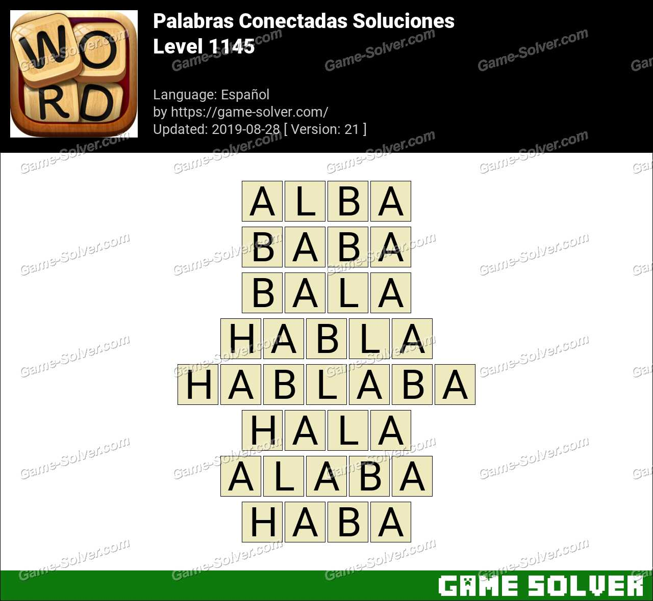 Palabras Conectadas Nivel 1145 Soluciones