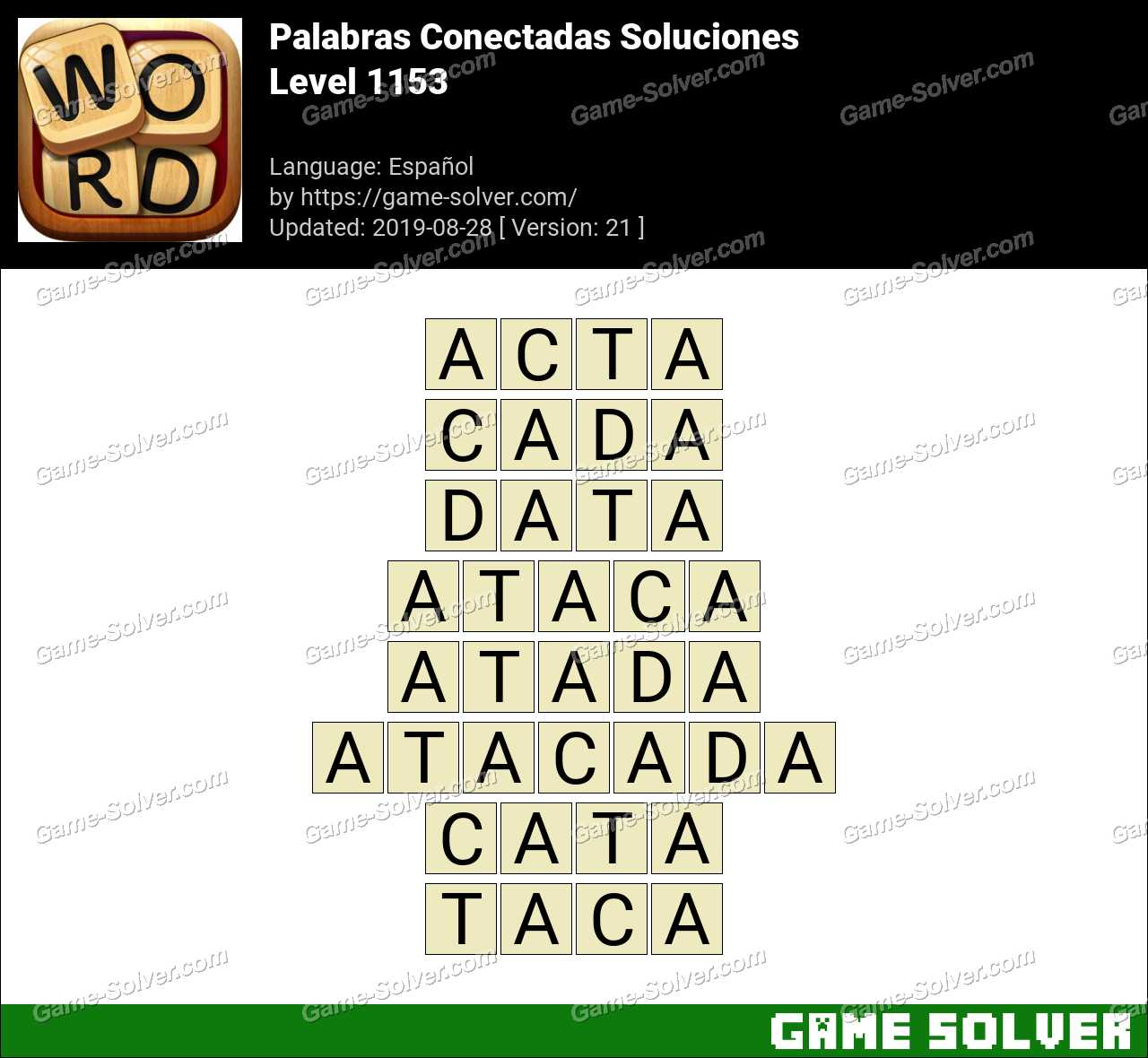 Palabras Conectadas Nivel 1153 Soluciones