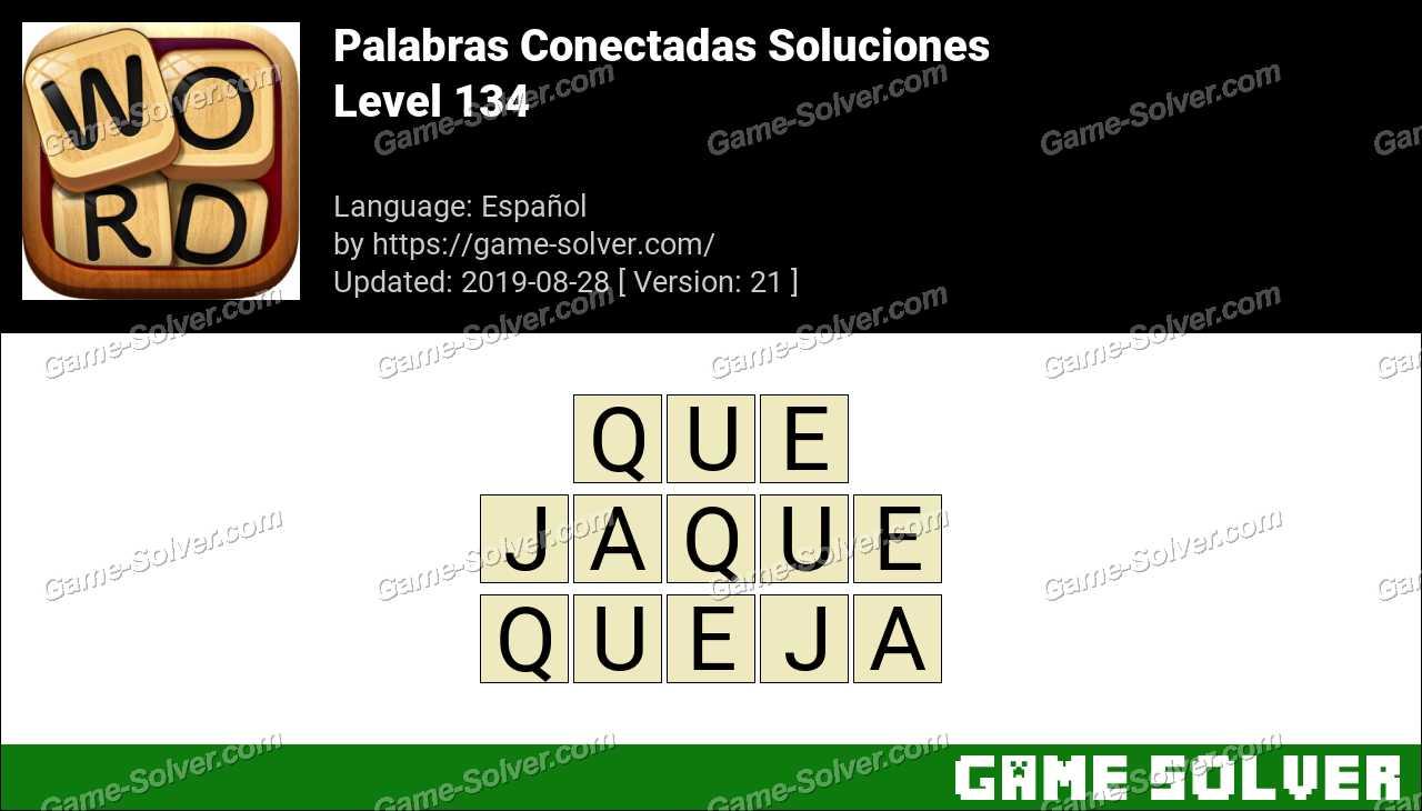 Palabras Conectadas Nivel 134 Soluciones