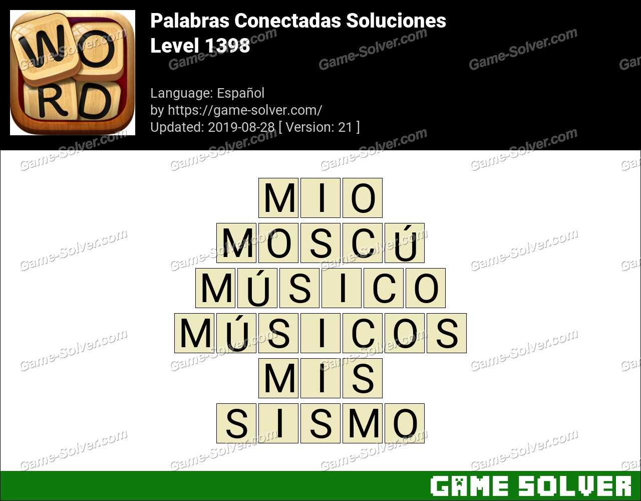 Palabras Conectadas Nivel 1398 Soluciones
