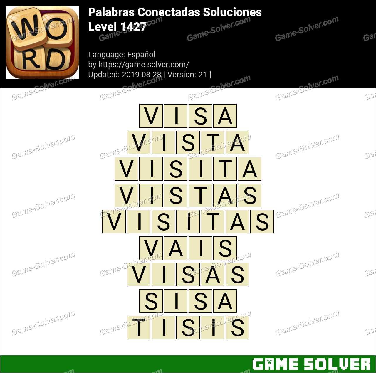 Palabras Conectadas Nivel 1427 Soluciones