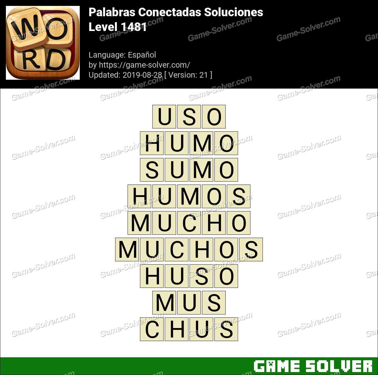 Palabras Conectadas Nivel 1481 Soluciones