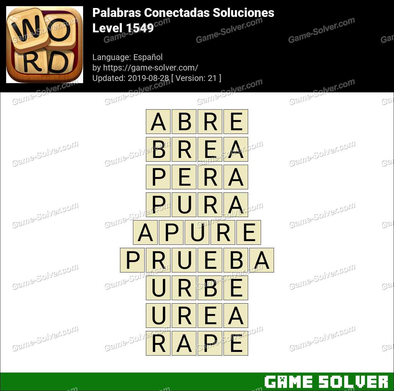 Palabras Conectadas Nivel 1549 Soluciones