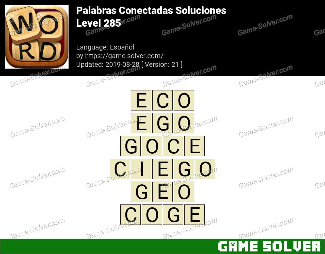 Palabras Conectadas Nivel 285 Soluciones