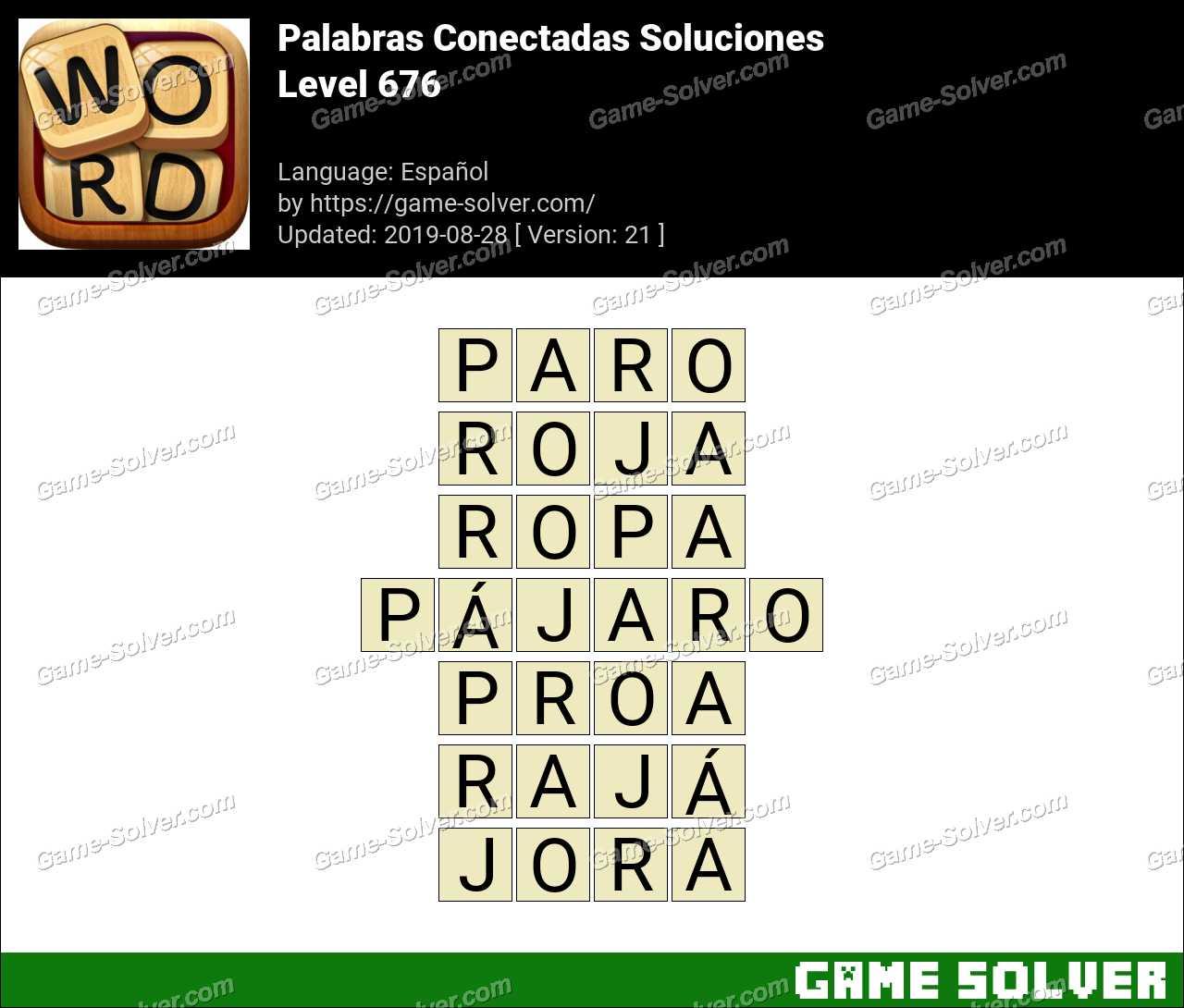 Palabras Conectadas Nivel 676 Soluciones
